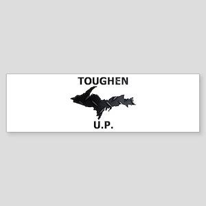 Toughen U.P. In Black Diamond Plate Bumper Sticker