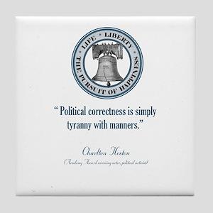 Charlton Heston Quote Tile Coaster