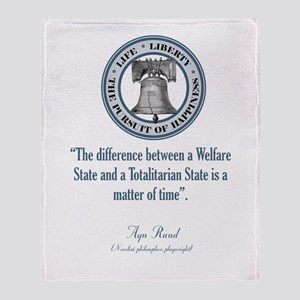 Ayn Rand Quote Throw Blanket