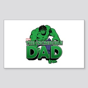 The Incredible Dad Sticker (Rectangle)