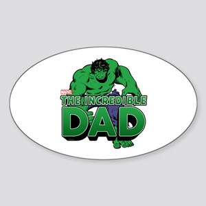 The Incredible Dad Sticker (Oval)