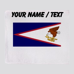 Custom American Samoa Flag Throw Blanket