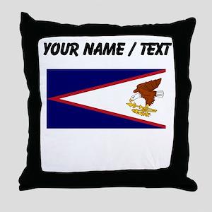 Custom American Samoa Flag Throw Pillow