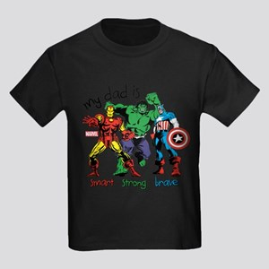 Marvel My Dad is Smart Kids Dark T-Shirt