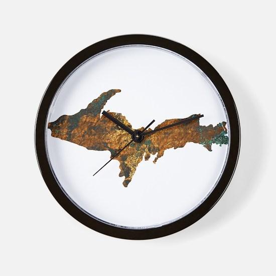 Raw Float Copper Wall Clock