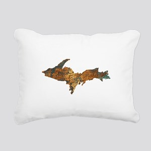 Raw Float Copper Rectangular Canvas Pillow