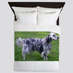 English Setter full Queen Duvet