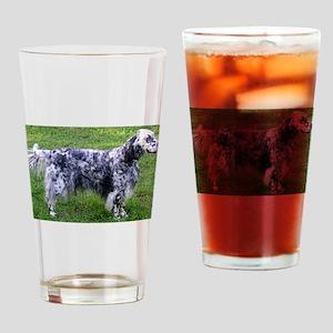 English Setter full Drinking Glass