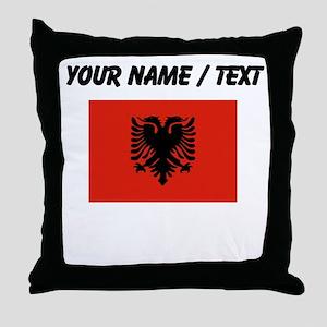 Custom Albania Flag Throw Pillow