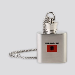 Custom Albania Flag Flask Necklace
