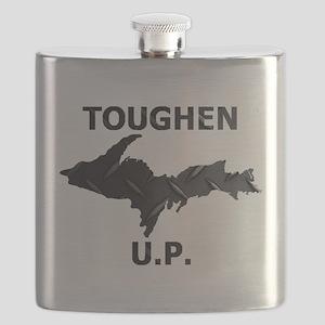 Toughen U.P. In Black Diamond Plate Flask