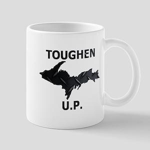Toughen U.P. In Black Diamond Plate Mugs