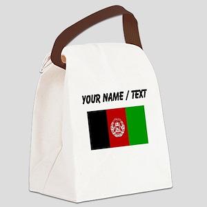 Custom Afghanistan Flag Canvas Lunch Bag