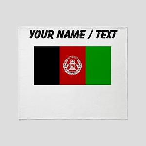 Custom Afghanistan Flag Throw Blanket
