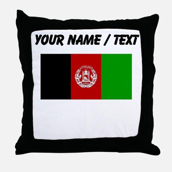 Custom Afghanistan Flag Throw Pillow