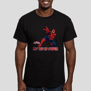 Spider-Man My Kid is S Men's Fitted T-Shirt (dark)
