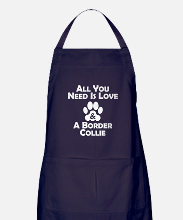 Love And A Border Collie Apron (dark)