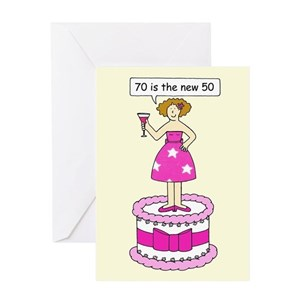 Funny 70th Birthday Greeting Cards