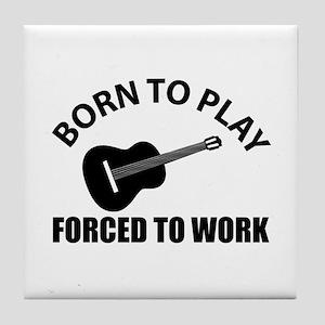 ukulele Musical Instrument Designs Tile Coaster