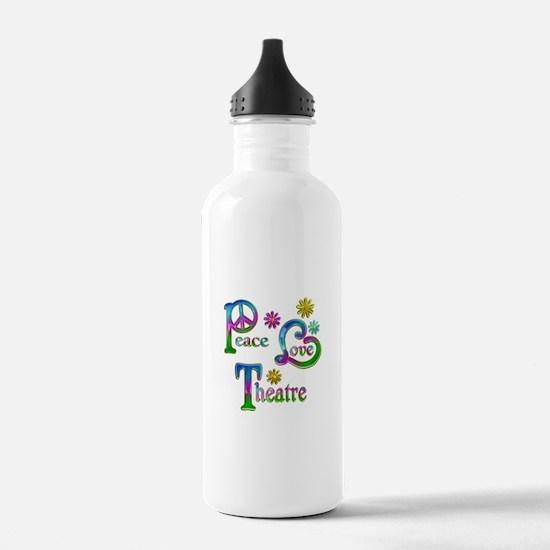 Peace Love Theatre Water Bottle