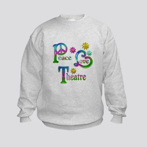 Peace Love Theatre Kids Sweatshirt