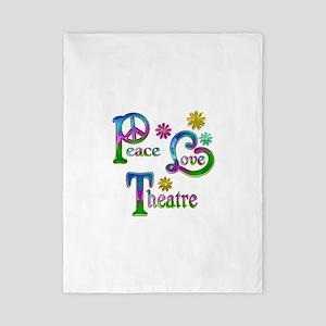 Peace Love Theatre Twin Duvet