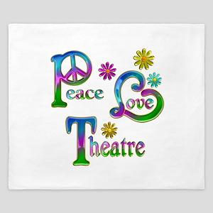 Peace Love Theatre King Duvet