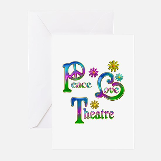 Peace Love Theatre Greeting Cards (Pk of 20)