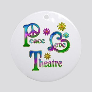 Peace Love Theatre Ornament (Round)