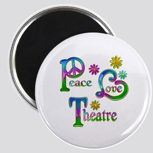 Peace Love Theatre Magnet