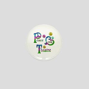 Peace Love Theatre Mini Button