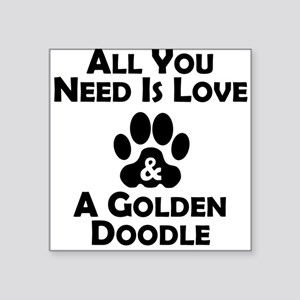 Love And A Goldendoodle Sticker