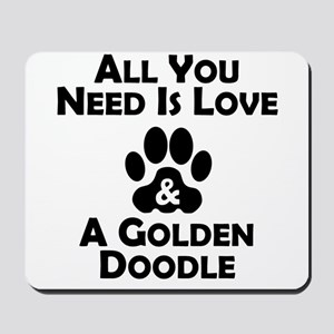 Love And A Goldendoodle Mousepad