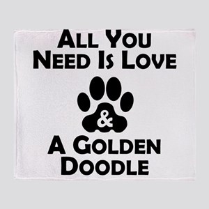 Love And A Goldendoodle Throw Blanket