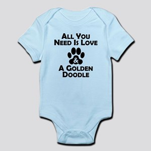 Love And A Goldendoodle Body Suit