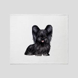 Skye Terrier (blk) Throw Blanket