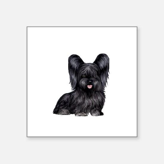 "Skye Terrier (blk) Square Sticker 3"" x 3"""