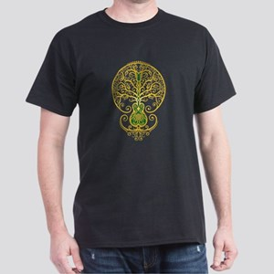 Green and Yellow Guitar Tree of Life T-Shirt