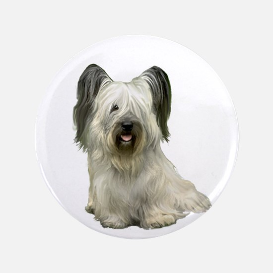 "Skye Terrier (lt) 3.5"" Button"