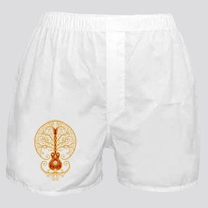 Red and Yellow Guitar Tree of Life Boxer Shorts