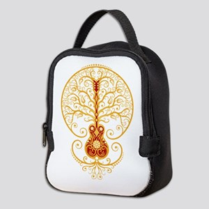 Red And Yellow Guitar Tree Of Neoprene Lunch Bag
