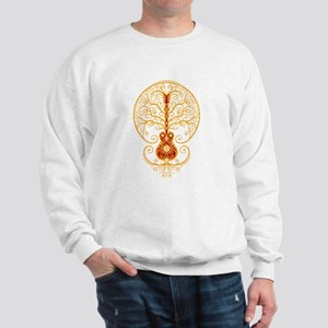 Red and Yellow Guitar Tree of Life Sweater