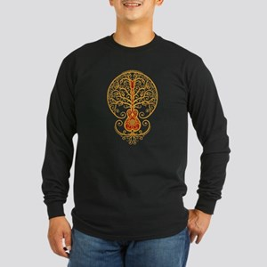 Red and Yellow Guitar Tree of Life Long Sleeve T-S