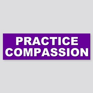 PRACTICE COMPASSION Bumper Sticker