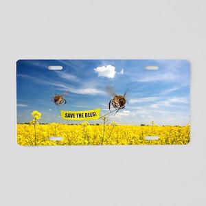 bees Aluminum License Plate