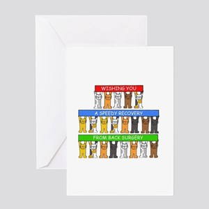 Speedy recovery from back surgery. Greeting Cards