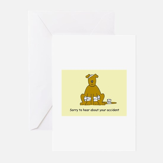 Sorry about your accident, puppy in Greeting Cards