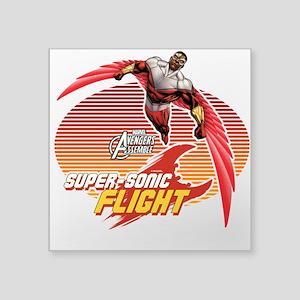 """Super-Sonic Falcon Square Sticker 3"""" x 3"""""""