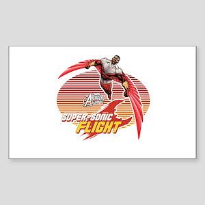 Super-Sonic Falcon Sticker (Rectangle)