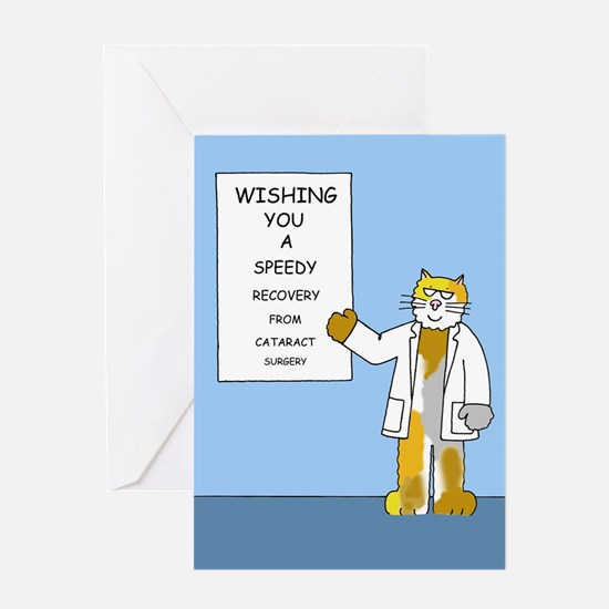 Cataract surgery speedy recovery Greeting Cards